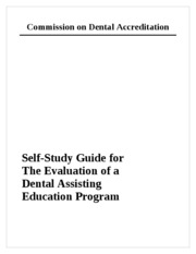 Self Study Guide for Dental Assisting