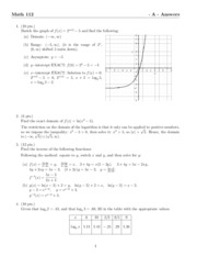 Math112-Exam1-A-Answers