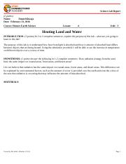 Heating Land and Water Lab Report.doc