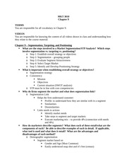 Chapter 9 Review Sheet