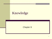 Chapter 8-Knowledge