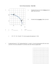 Unit 1A Practice Questions - Math Skills