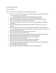 Study Sheet exam 3 Fall 2014 7,8,9,10