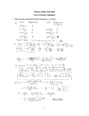 Phys 362k 2014 test 2 practice solutions