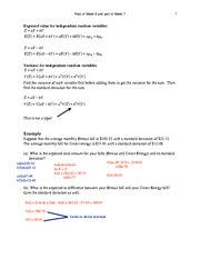 General Probabilities and Binomial Distribution Notes