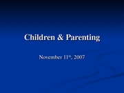 Nov12 Children and Parenting