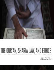 RELG 203 28. Sharia and Quran.pdf