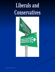 Liberals and Conservatives.ppt