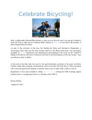 Celebrate Bicycling.docx