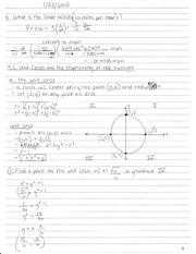 5.2 Unit Circles and The Trigonometry of Real Numbers