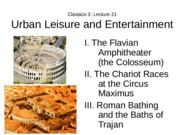Lecture 21 Urban Leisure and Entertainment