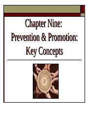 Ch 9 -  Prevention and Promotion
