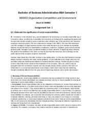 Organisation Competition and Environment