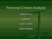 personal crime analysis cja 354 week 3 Young offenders in the swedish and german juvenile criminal  in the analysis, i  suggest an explanation for the ability of the juvenile  chapter 3 guiding  principles of the german and the swedish juvenile  (like the severity of the  offence or personal circumstances) are  354 see bverfge 74, 102.