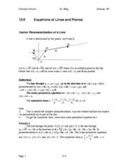 Calculus Notes 13.5