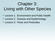 CH 3.1 Env and Public Health