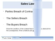 Business Law - 5th Lecture - Sales Law Continued2 (1)