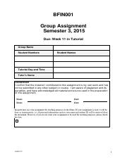 BFIN001 S3 2015 ASSIGNMENT - Pre-released Questions.pdf