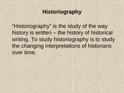 WWII Historiography