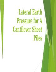 Lateral Earth Pressure for A Cantilever Sheet Piles.pptx
