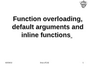 class31-32inline functions function overloading_Class