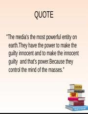 (SEM 1) The Power of Media towards our Mind