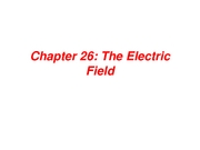Ch 26 Electric Fields