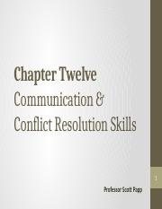 CHAPTER 12 (Communication & Conflict Resolution - ulearn copy)
