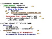 Civil War from 1863 - 65