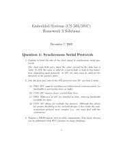 Homework C Solutions on Embedded Systems