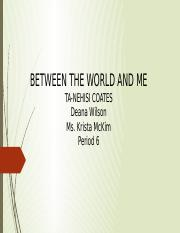 Between the world and me.pptx