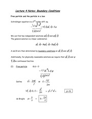Lecture 4 Notes Boundary Conditions