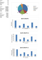 PIE GRAPHS AND BAR CHARTS