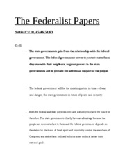 The Federalist Papers notes first