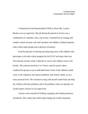 Community Sevice paper