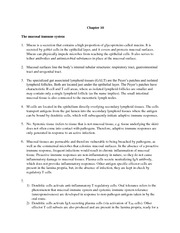 Chapter 10_mucosal immune system_study questions_discussion