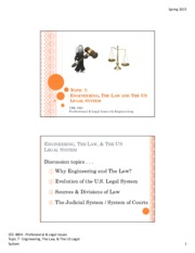 Engineering_The Law_and US Legal System Lecture