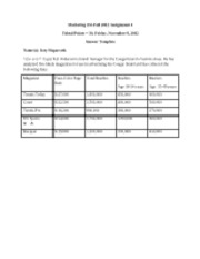Mar 255 Fall 2012 Assignment 4 answer template