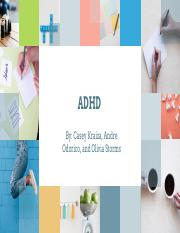 ADHD - Psychology Project