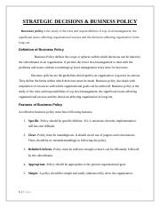 STRATEGIC DECISIONS & BUSINESS POLICY.docx