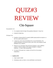 Quiz #3 Review