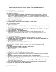 Latin American Studies- Study Guide- Civil-Military Relations