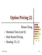 Note 52 Option Pricing (2)