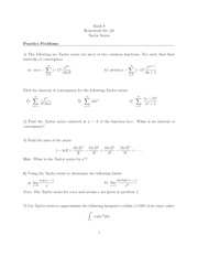 Dartmouth Math 8 Calculus of Functions of One and Several Variables Problem Set 19