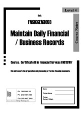 FNSICGEN305B Workbook Maintain daily financial and business records