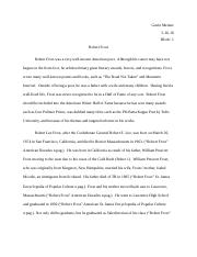 Robert Frost-Final Draft