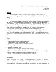 identifying organic compounds lab