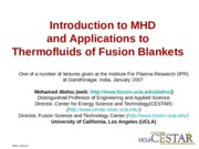 Lecture4-MHDandThermofluids-1-3-07