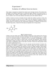 exp 7 isolation of caffeine from tea