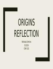CWV origin reflection